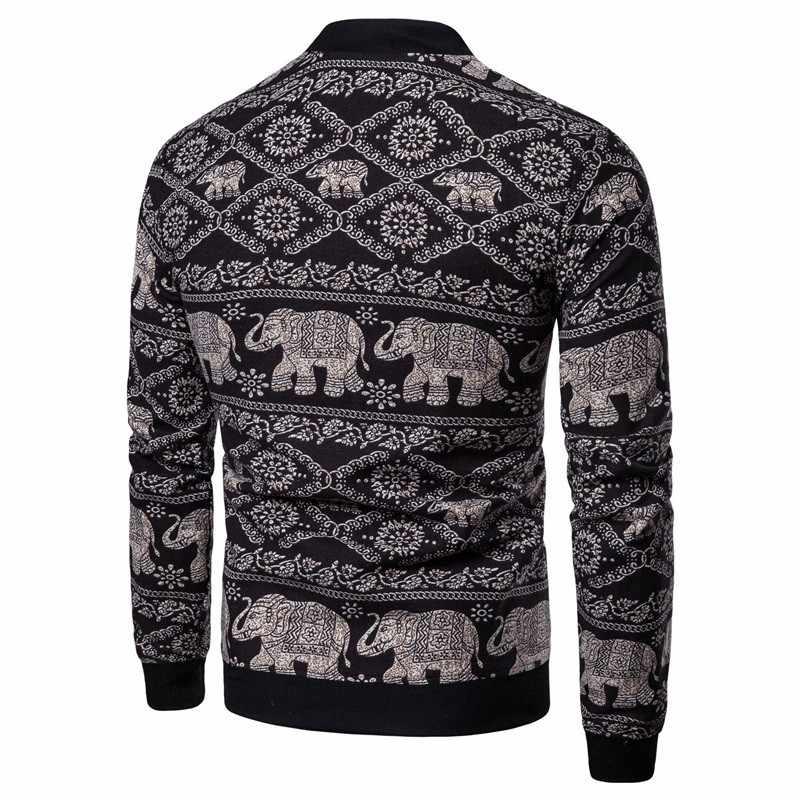Heren etnische stijl animal print jas hip hop mannen lente mannen mode dunne jas hip hop streetwear onze size S-XXL