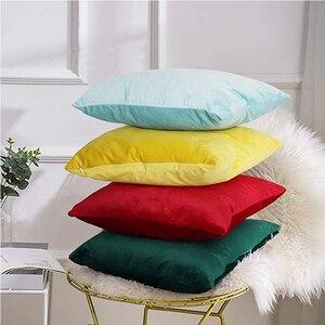 Velvet Pillowcase Soft Solid C