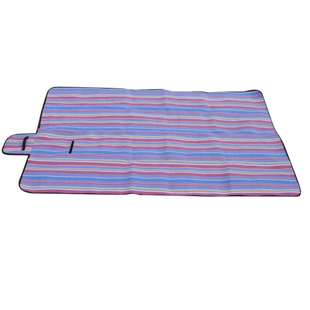 Extra Large Picnic Blanket Rug Mat Waterproof Travel Camping Beach Kids Baby Purple Stripe