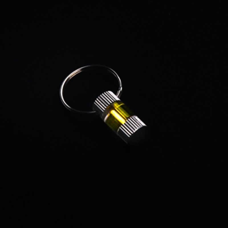 Otomatik ışık 25 yıl trityum gaz işık anahtarı titanyum yüzük alaşım floresan tüpler anahtarlık tüp hayat kurtarıcı acil durum ışıkları