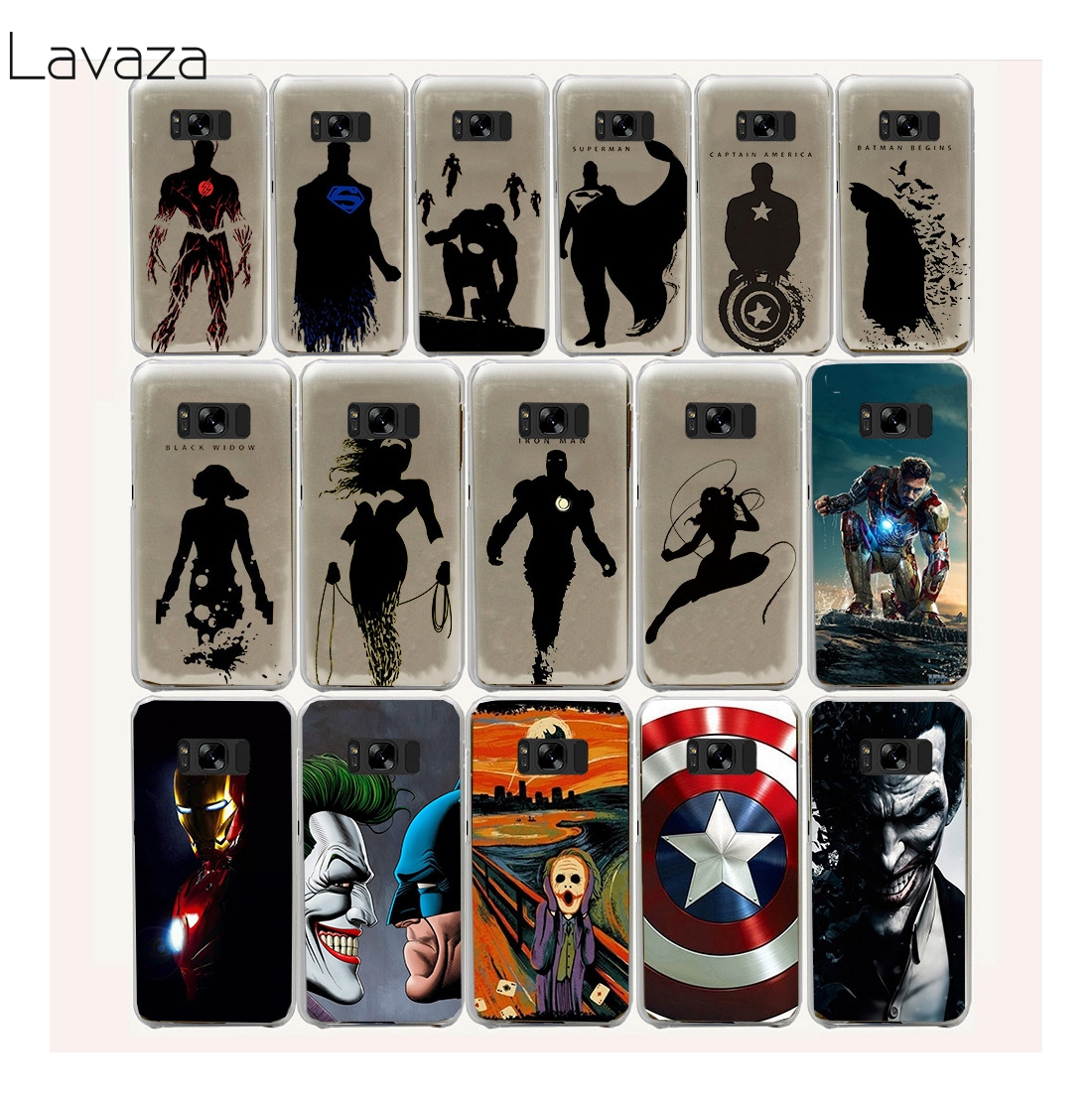 Lavaza 29FF <font><b>Super</b></font> <font><b>Hero</b></font> Batman <font><b>Spider</b></font> <font><b>Man</b></font> Hard Case for <font><b>Samsung</b></font> <font><b>Galaxy</b></font> S8 Plus S7 S6 Edge S5 S4 S3 S2 <font><b>Mini</b></font> Plus