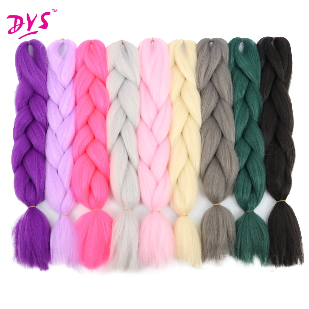 Hair Braids The Best Deyngs 24inch Synthetic Braiding Hair Pure Color Hightemperature Kanekalon Jumbo Braid Hair Extensions Crochet Yaki Texture 100g Discounts Sale Hair Extensions & Wigs