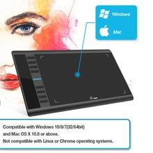 Ugee цифровой Графика Планшеты M708 V2 «10×6» дюймовый планшет для рисования для раскрашивания 8192 Давление с пассивным ручка противообрастающих перчатки