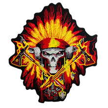 Iron Patches For Clothing Customized Indian Biker Patch Motorcycle Embroidered Iron On Back Of Jacket Patch White Twill Fabric original rock machine motorcycle embroidery biker patch large size black twill for full back of jacket iron on vest rocker patch