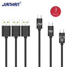3 Pack Flat Micro USB Cable 3 pcs 0.5M/1M/2M Fast Charging Data Charger Universal Micro USB Wire For Huawei Samsung Xiaomi аксессуар innovation a1i cobra 3 a usb micro usb 2m white 13321