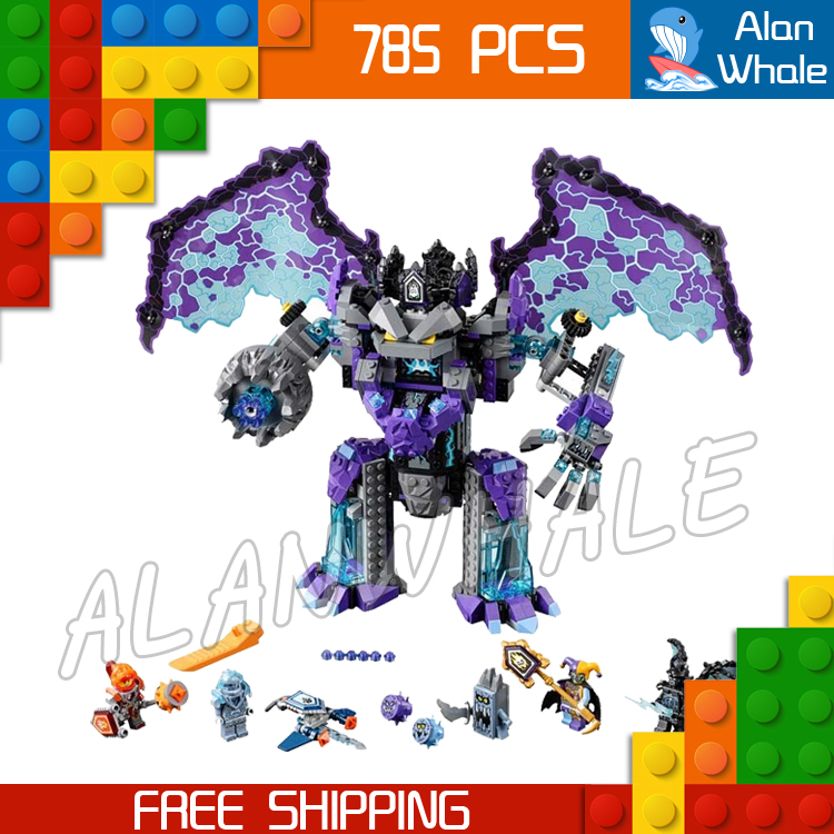 785pcs Knight Stone Colossus of Ultimate Destruction Model Building Blocks 14036 Assemble Bricks Toys Nexus Compatible With Lego in stock lepin 14036 785pcs nexoe the stone colossus of ultimate nexus destruction knights building blocks bricks toys for kids