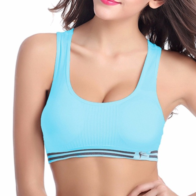 Professional sport bra absorb sweat quick drying fitness padded stretch workout bra gym training running tank top vest underwear