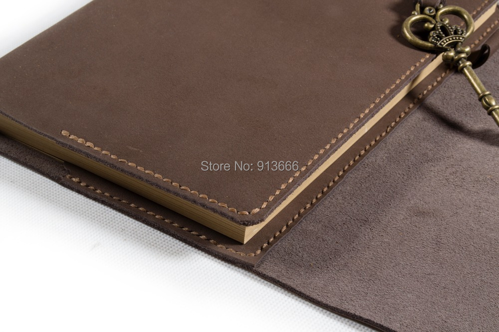 refillable leather journal hand stitch blank diary leather book