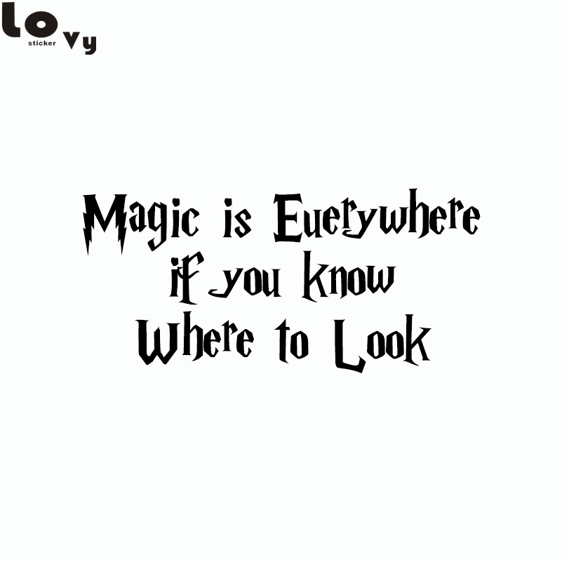 Classic Movie Harry Potter Magic Is Everywhere Car Sticker/Decal for Car Decoration