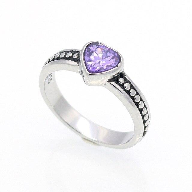 HFYK 2018 красочные кубический цирконий сердце Форма кольцо для Для женщин Кольца из нержавейки влюбленных кольца anillos mujer aneis bague