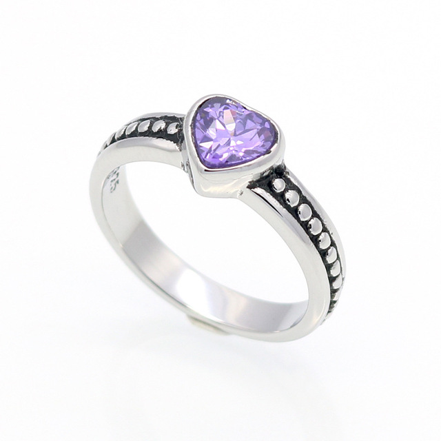 HFYK 2019 красочные кубического циркония сердце Форма кольцо для женщин нержавеющая сталь влюбленных кольца anillos mujer aneis bague