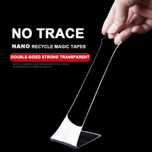 Recycled Transparent Nano Magic Double Sided Adhesive Tape Traceless Waterproof For Home Kitchen No Trace Strong Glass Wall