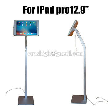 Flexibele Tablet security lock ipad floor stand pad display enclouse case beugel kiosk anti diefstal behuizing voor ipad pro 12.9