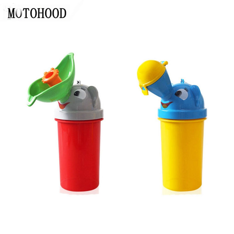 18.5*7*7cm 500ml Baby Potty Portable Toilet Urinals Boy Girls Outside Car Travel Kid Toddler Urinal Cute Kawaii Toy Potty Bottle