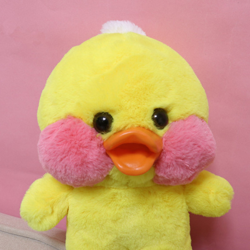 Lalafanfan 25cm Kawaii Yellow Duck Plush Toy Cute Small Duck Stuffed