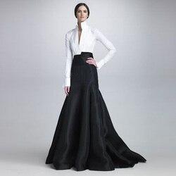 Chic Long Mermaid Satin Skirts 2018 Fashion Custom Made Floor Length Women Evening Party Skirts Fashion Trends Maxi Skirts