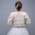 Nova Chegada Elegante Champagne Mangas Compridas Fuax Fur Jacket Casamento Wraps Acessórios Do Casamento vestido de Noiva Casacos PJ74