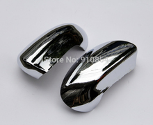 Quality! ABS Chrome Rearview Side Door Mirrors Cover Trim 2pcs For Nissan Qashqai Dualis 2007 2008 2009 2010 2011 2012 2013