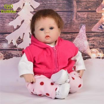 "Cute Bebes Reborn menina 18""42cm vinyl silicone reborn baby doll vinyl newborn bebes dolls gift toys for child"