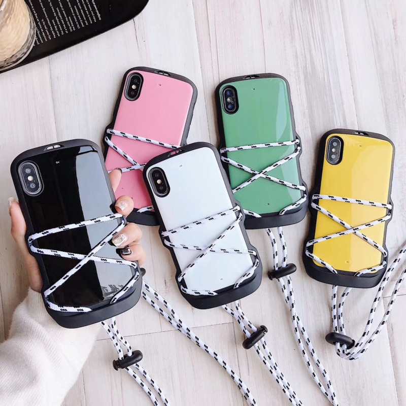 Drop-resistant spacecraft phone case for iPhone11 X XS XR XSMax 8 7 6 6S PluS convenient lanyard drop protection cover