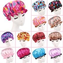 1PCS Cute Printing Elastic Shower Caps for Ladies Girl Hat Hair Bath