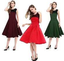Frauen sommer elegante Vintage sleeveless spitze büro damen arbeitskleidung partei abend A-linie kurzkleid kleider kleidung kleidung