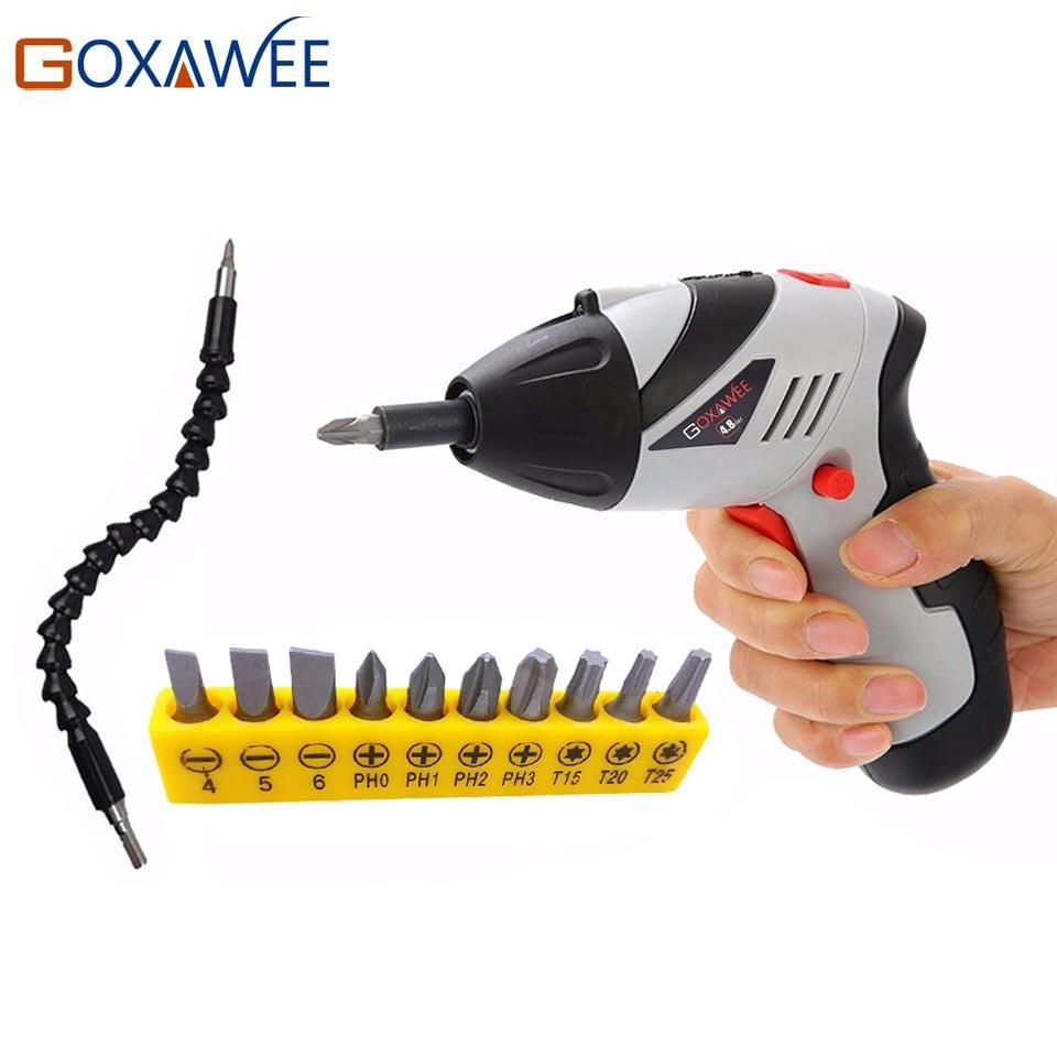 GOXAWEE 4.8 V Mini Torque Cacciavite Elettrico Ricaricabile Parafusadeira Furadeira Cordless Cacciavite Famiglia FAI DA TE Strumento di Potere