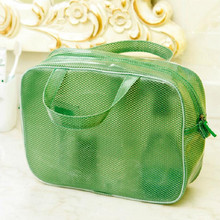 1 PCS M Size Mesh Wash Bag Cosmetic Cases Waterproof Coating Large Capacity Portable Travel Storage Bag Organizers Parts Supply