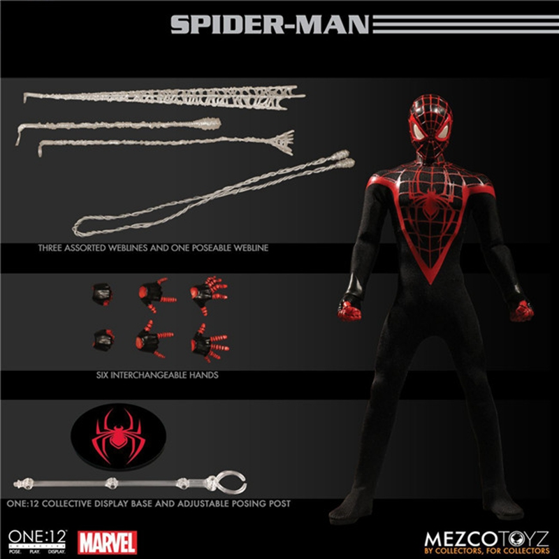 Mezco Marvel Avengers Spiderman Action Figure 1:12 Collective Toys Collection Model 6