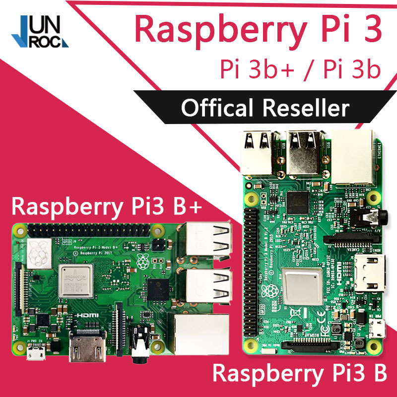 Original Element14 Raspberry Pi 3 Modelo B/B + Plus + BCM2837 1,2G raspberry pi 3 con 2,4G y 5G WIFI Bluetooth 4,2 y PoE - 1