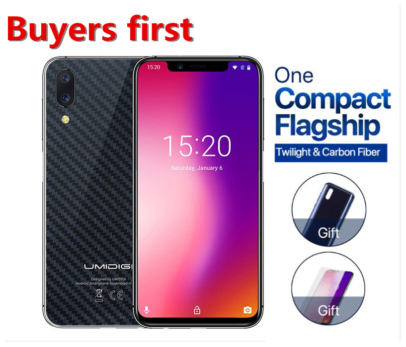 "original Global Version UMIDIGI cellphone 19:9 5.9"" Android 8.1 mobile phone 4GB+32GB Helio P23 Octa Core 12MP 4G smartphone"