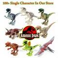 Sola Venta Dinosaurios De Jurassic Park World Película Kid Bebé de Juguete Bloques Huecos de los Juguetes Modelo de Ladrillo