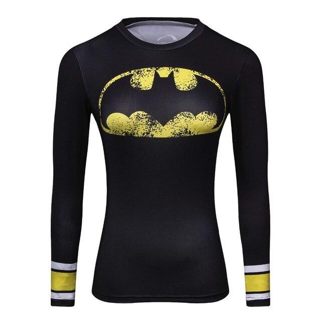 Women Tops Comics Marvel Superman Wonder Women s Compression Funny t shirts  Long sleeve Shirts Female Fitness dd848aae7ac5