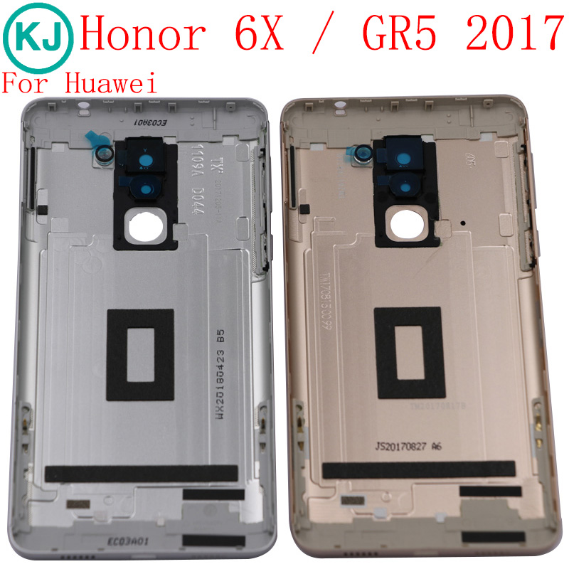 Original Mate 9 lite Back Housing Battery Cover For <font><b>Huawei</b></font> Honor 6X / <font><b>GR5</b></font> <font><b>2017</b></font> Back Door With Camera Lens Power Volume Buttons image