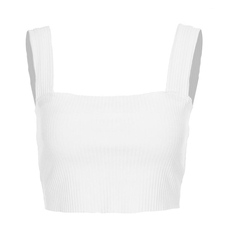 Liva Girl Sexy Slim Tank Top Women Sleeveless Crop Top Halter White Backless Bustier Summer Tube Tee 2018 Blusa Cropped Feminino