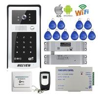 FREE SHIPPING RJ45 LAN Wifi 720P Video Door Phone Intercom Kit RFID Code Keypad Outdoor Doorbell