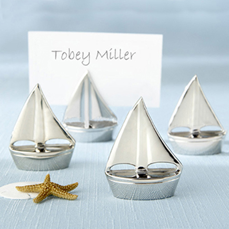 15pcs Hot sale wedding supplies Silver Sailboat Place holder table number figure card digital seat wedding Decoration
