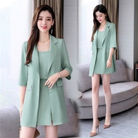 a0d2f67f7d YASUGUOJI New 2019 Summer Office Lady Long Blazer With Gallus And Shorts  Suits Women Female 3