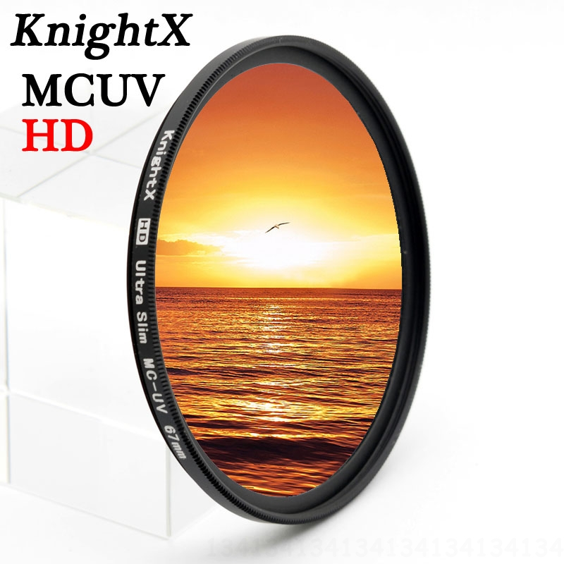 KnightX HD MCUV MC 49mm 52mm 55MM 58MM 62 67MM 72MM 77MM FILTER UV ლინზები Nikon canon t3i D3100 D3200 D5200 D7100 d5300 d3300