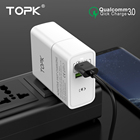 TOPK 30W Quick Charge 3.0 Dual USB Charger EU Plug Travel Wall Charger Adapter Fast Mobile Phone Charge for Samsung Xiaomi