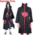 Akatsuki Cosplay Naruto Cloak Itachi Akatsuki Robes Cloak Party Costumes Japan Anime Unisex Disfrace Carnav Superstar Town
