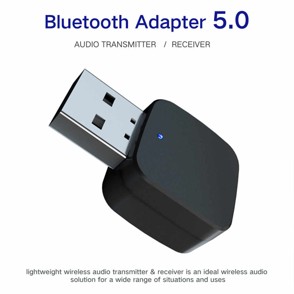 3.5mm AUX Bluetooth 5.0 Audio Car Kit Draadloze muziek Ontvanger Zender Adapter USB 3.5mm Jack voor TV Auto radio Speaker