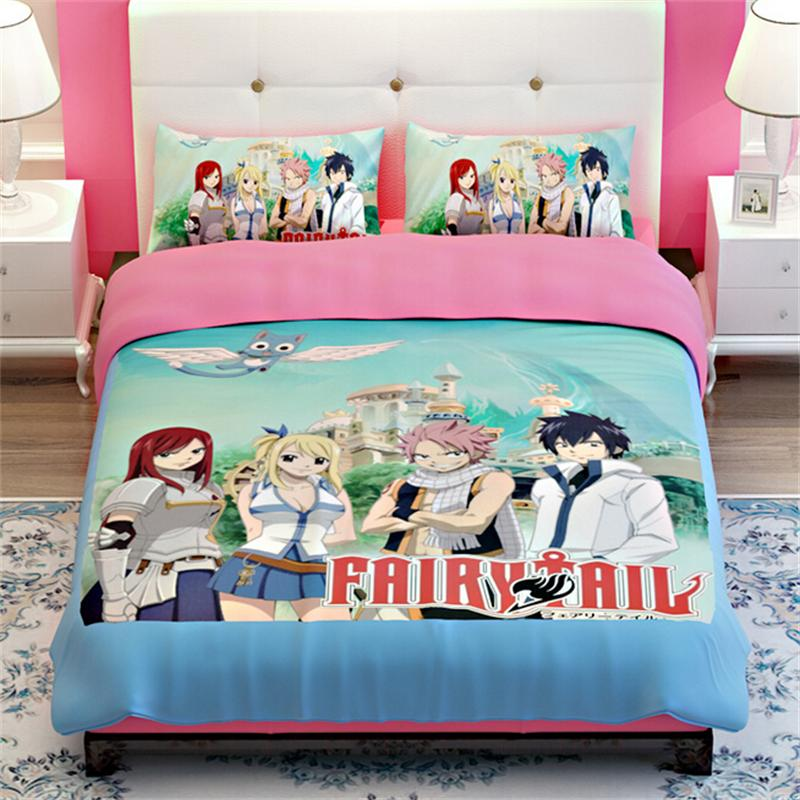 Japanese Anime FAIRY TAIL Bedding Sets Twin Queen King