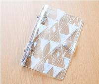 Caderno espiral caderno espiral A5 A6Simple e elegante escritório escola suprimentos transparente plano simples notebook viajantes