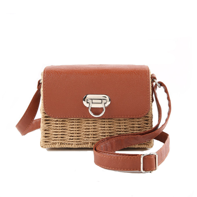 Aliexpress.com : Buy Unique Retro Panelled Straw Beach Bag Small ...
