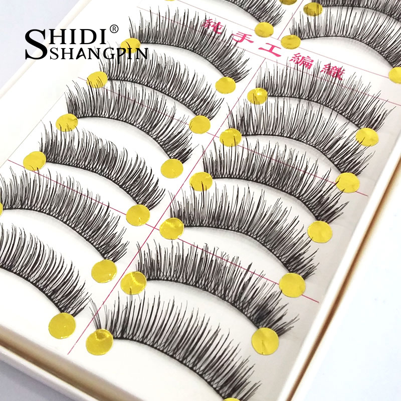 50 Pairs False Eyelashes Natural Long Soft Fake Eye Lashes Professional Handmade Makeup Maquiagem Lashes Beauty Cosmetic Tools