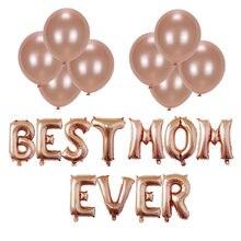Mütter tag party dekoration globos 16 zoll rose gold brief ballons Beste Mutter Immer folie ballons partei liefert ballons