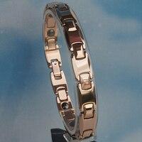 22 1cm 8 7 Inch 10mm Width Classic Rose Gold Plating Men Jewelry Hi Tech Magnetic