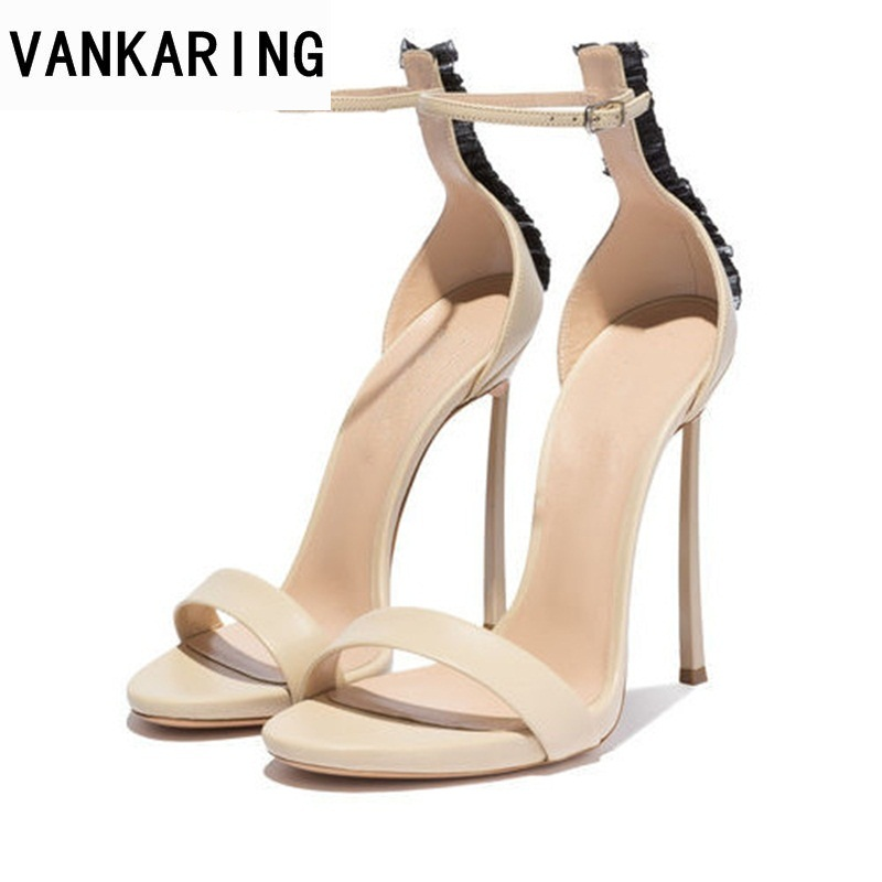 VANKARING brand designer summer fashion shoes sexy open toe hasp women sandals luxury ladies party ladies gladiator heels shoes 2018new arrival ladies party shoes women sandals summer open toe fashion platform high heels brand designer sandals female shoes