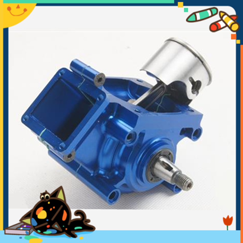 Metal CNC Gas Motor Crankcase intake Zenoah G320RC 32cc Gas Engine cnc aluminum water cooling jacket for 29cc zenoah engine rc boat